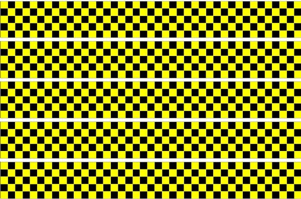 Checker Stripes waterproof Vinyl Sticker vehicle decal YELLOW/BLACK